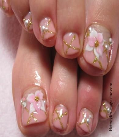 3d Flower Nails Simple Toe Nail Art Designs Of Modern Century Hair