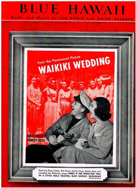"From Paramount ""Wakiki Wedding"" 1937"