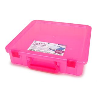 Stackable Storage Containers Magenta 14 x 14 inches Storage