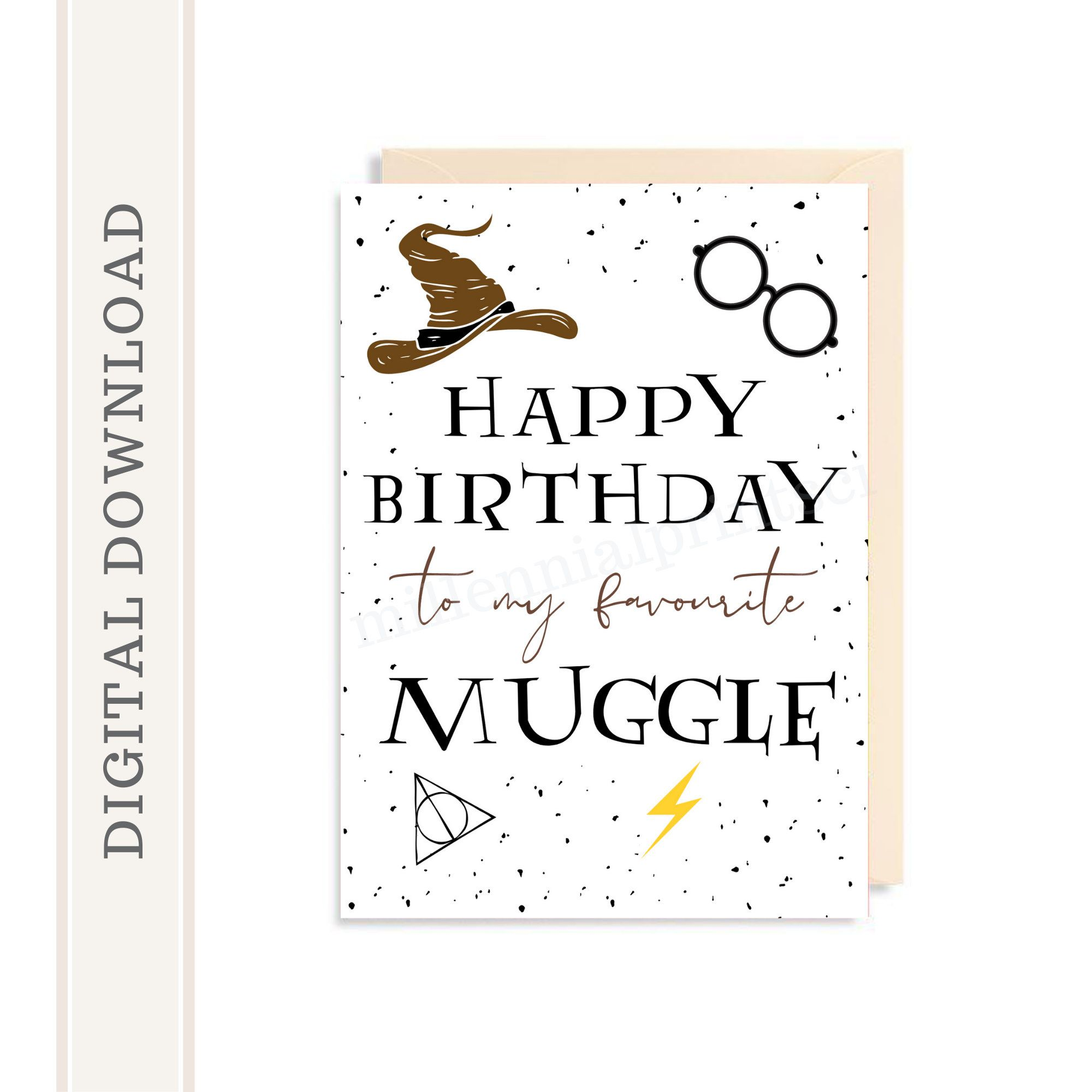 Printable Harry Potter Birthday Card Happy Birthday Card Etsy In 2020 Harry Potter Birthday Cards Happy Birthday Cards Printable Digital Birthday Cards