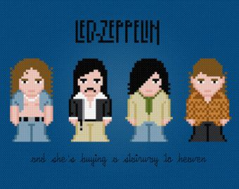 Led Zeppelin - Digital PDF Cross Stitch Pattern
