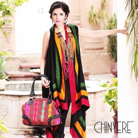 b78deebf01 Chinyere Winter Collection With Colorfull Fabric Dresses For Girls ...