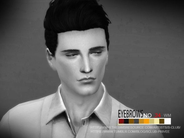 The Sims Resource: Eyebrows 24 M by S-Club  Sims 4 ...