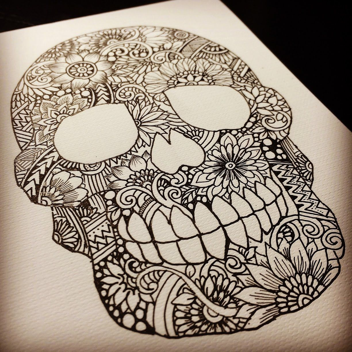 zentangle easy drawings google search projects to try pinterest easy drawings skull. Black Bedroom Furniture Sets. Home Design Ideas