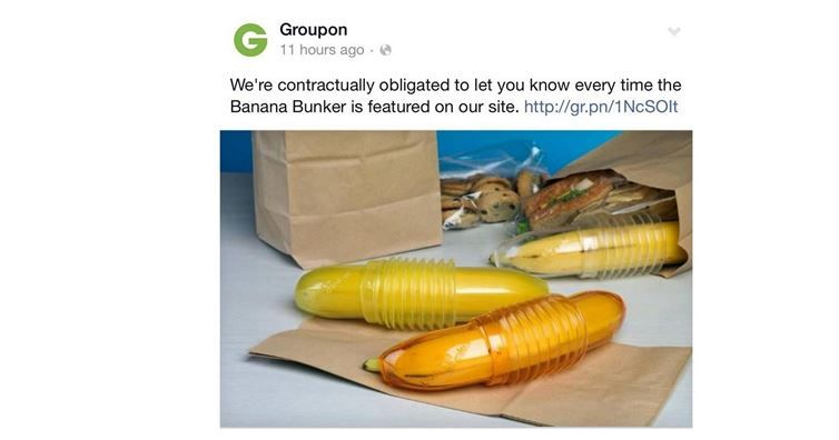 Three Banana Bunkers: $20. #Groupon Discount: $9. Your Responses? Priceless.
