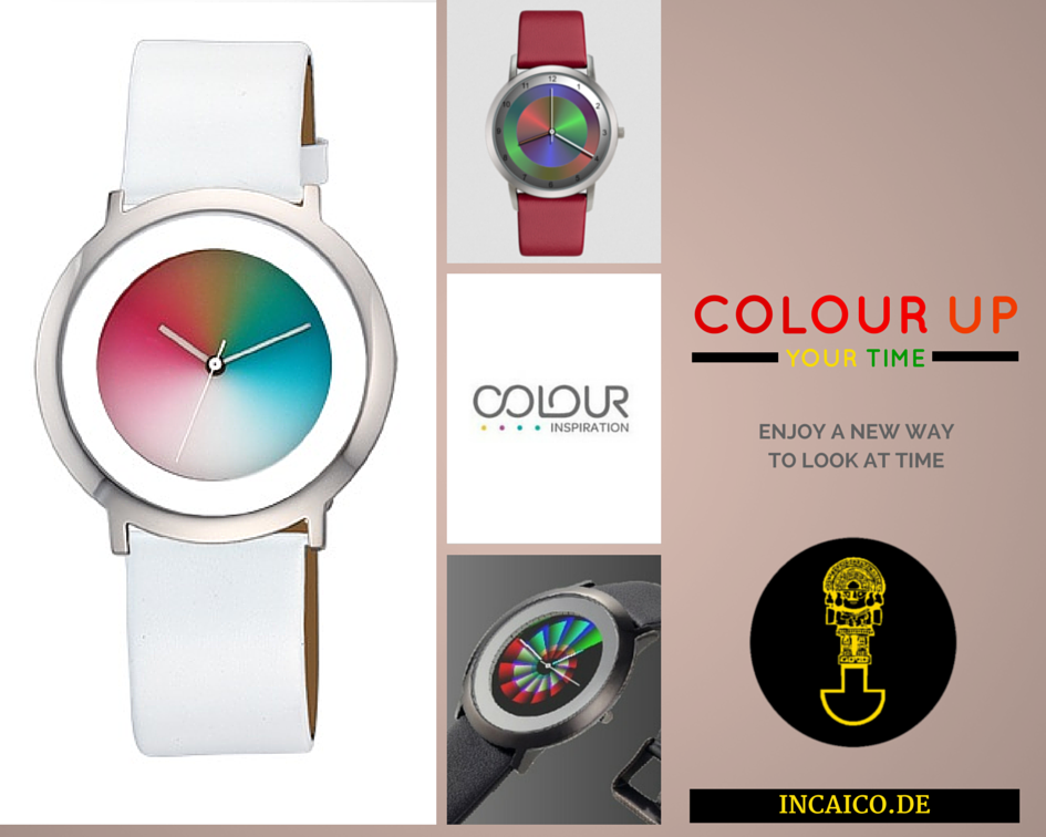 image a watch with a color changing dial every hour a new colour the rainbow at the wrist of you arm only through colour inspiration watches from filius - Color Watches