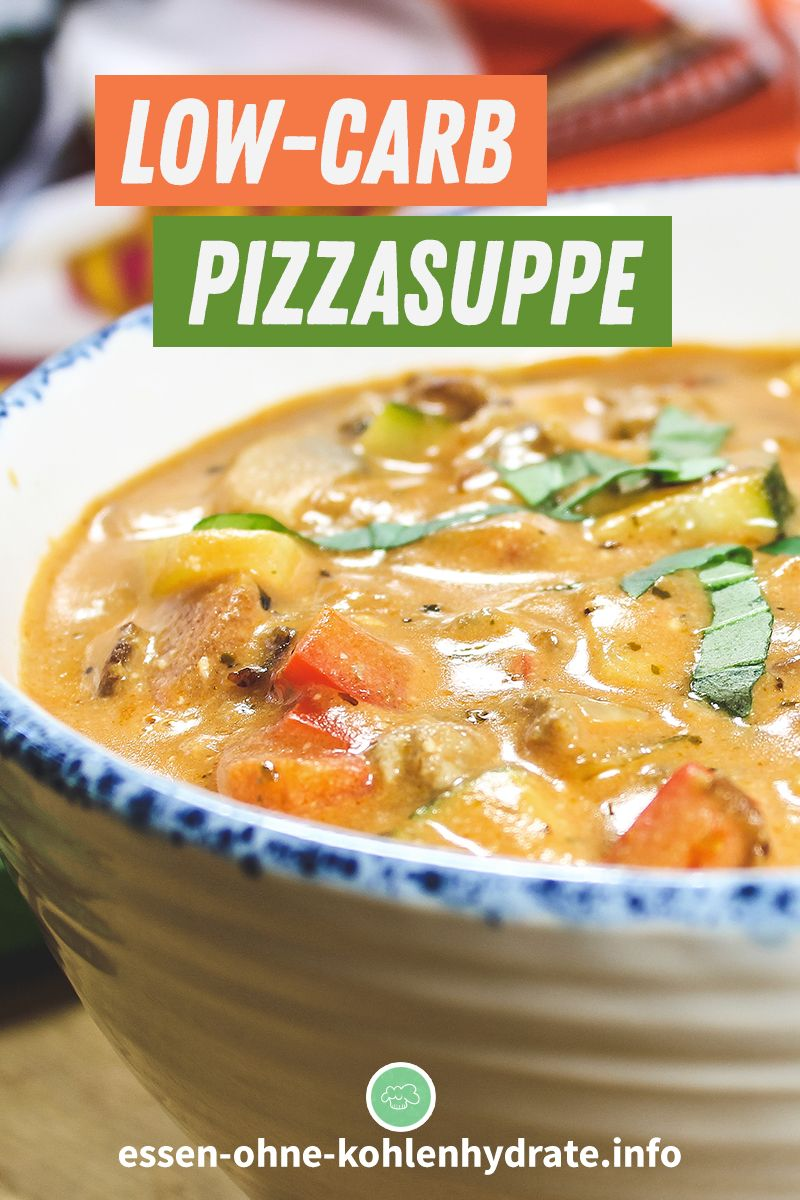 Low-Carb Pizzasuppe