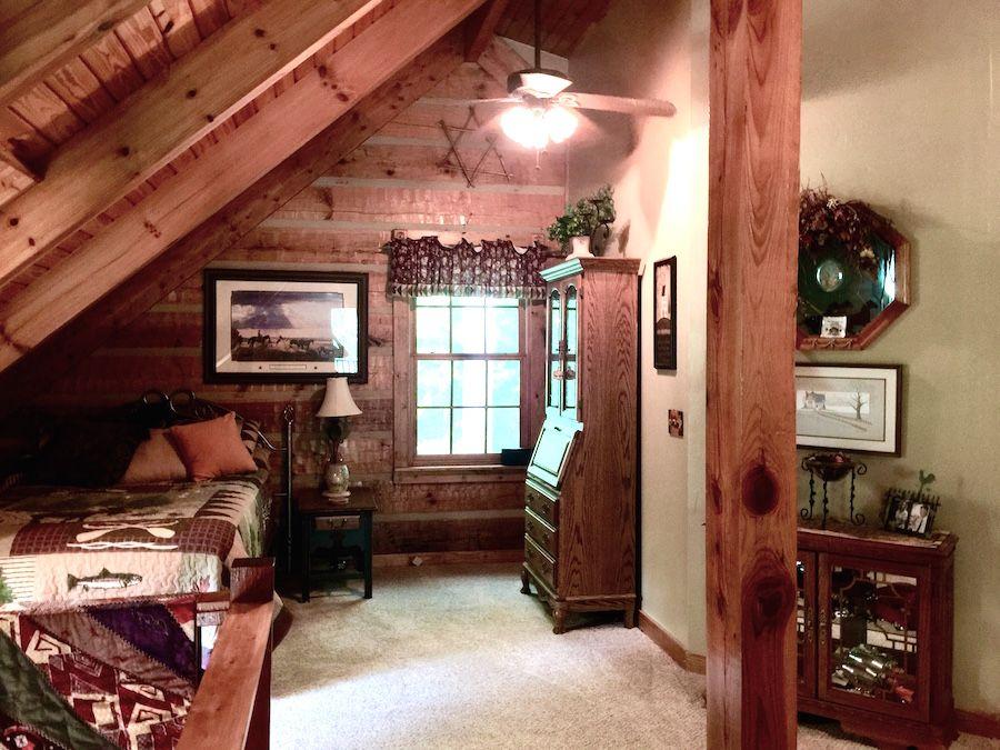 Loft of Southland hand Hewn Applachian log home now