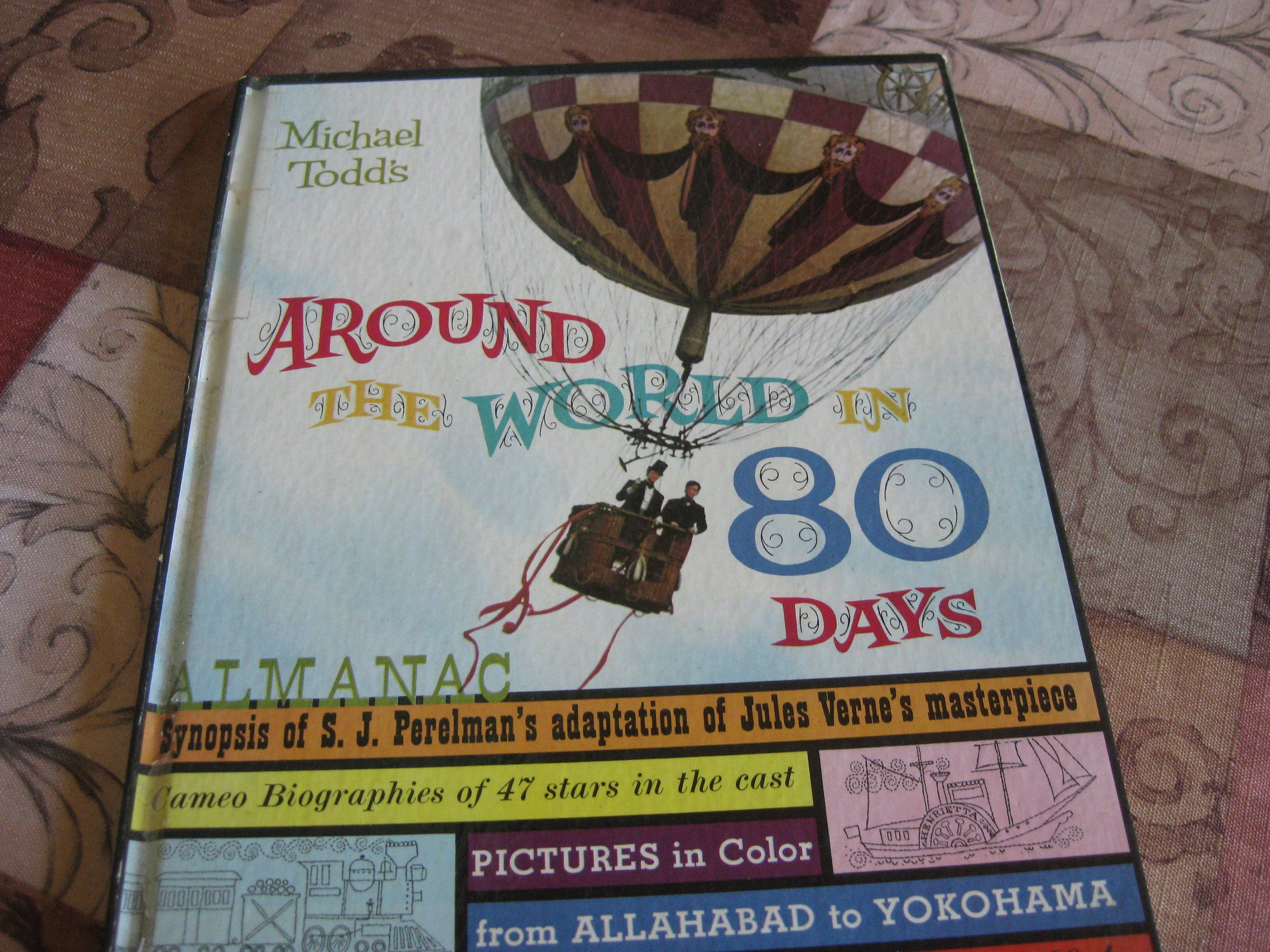 Around the World in 80 Days, Michael Todd, movie almanac. Adaptation of Jules Verne's masterpiece by S.J. Perelman, 1956 epic movie event #epicmovie