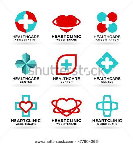 Health care logo design icons