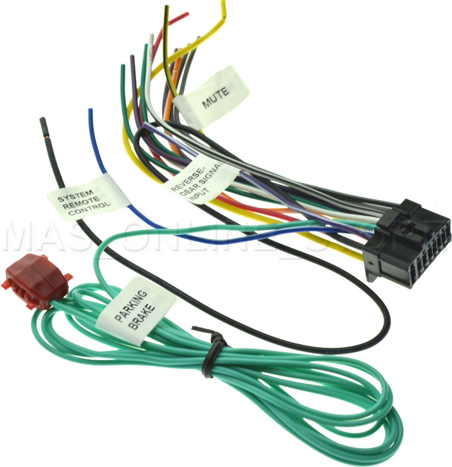 12 91 wire harness for pioneer avh p8400bh avhp8400bh pay today ships today ebay [ 1550 x 1600 Pixel ]