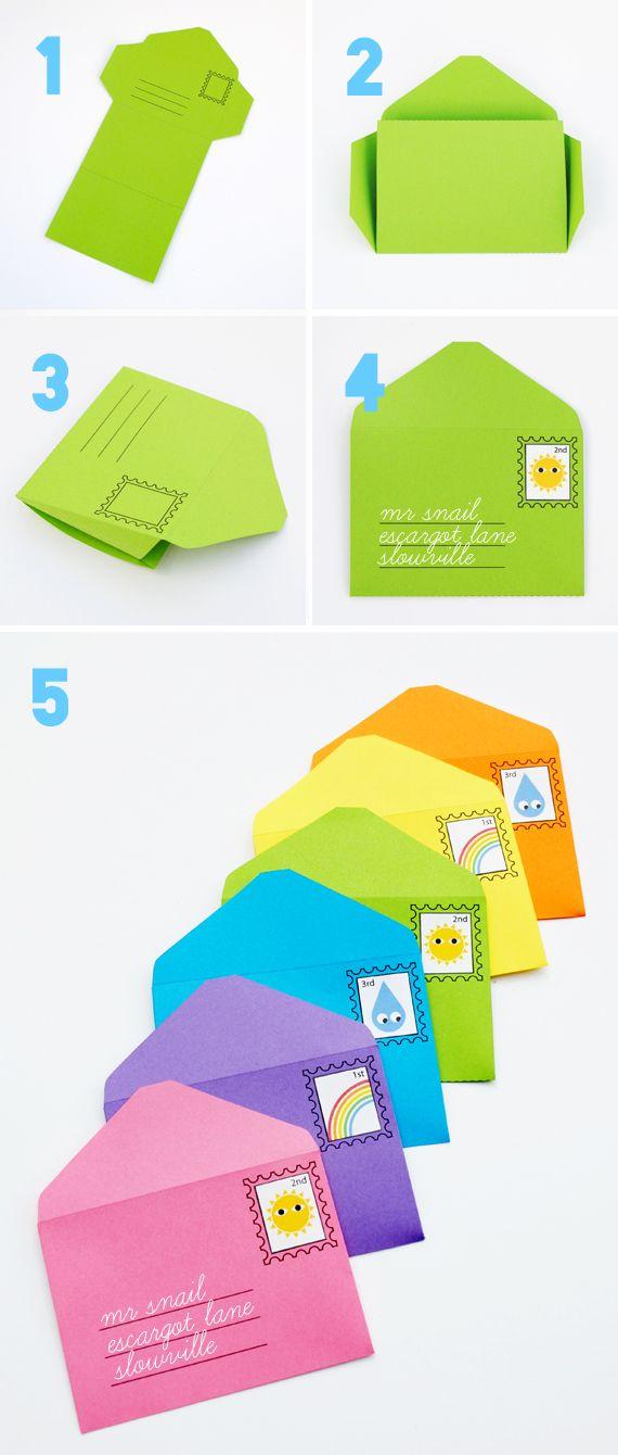 Imprimibles para jugar con sobres y sellos // DIY play envelopes & stamps