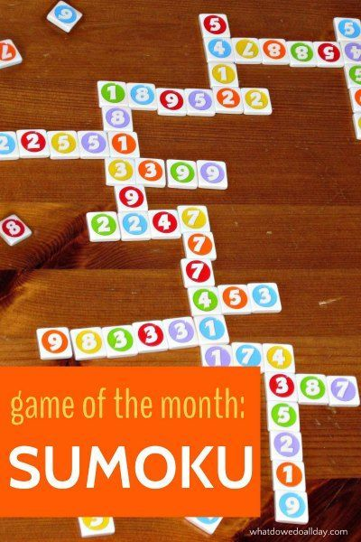 Game Of The Month Sumoku Bloggers Fun Family Projects
