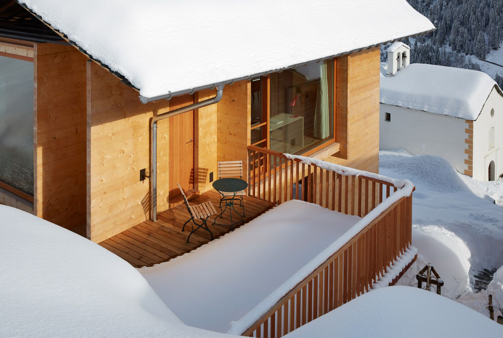 Peter Zumthor Timber Houses in Leis, Vals, Switzerland