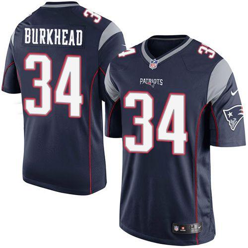 Youth Nike New England Patriots #34 Rex Burkhead Limited Navy Blue ...