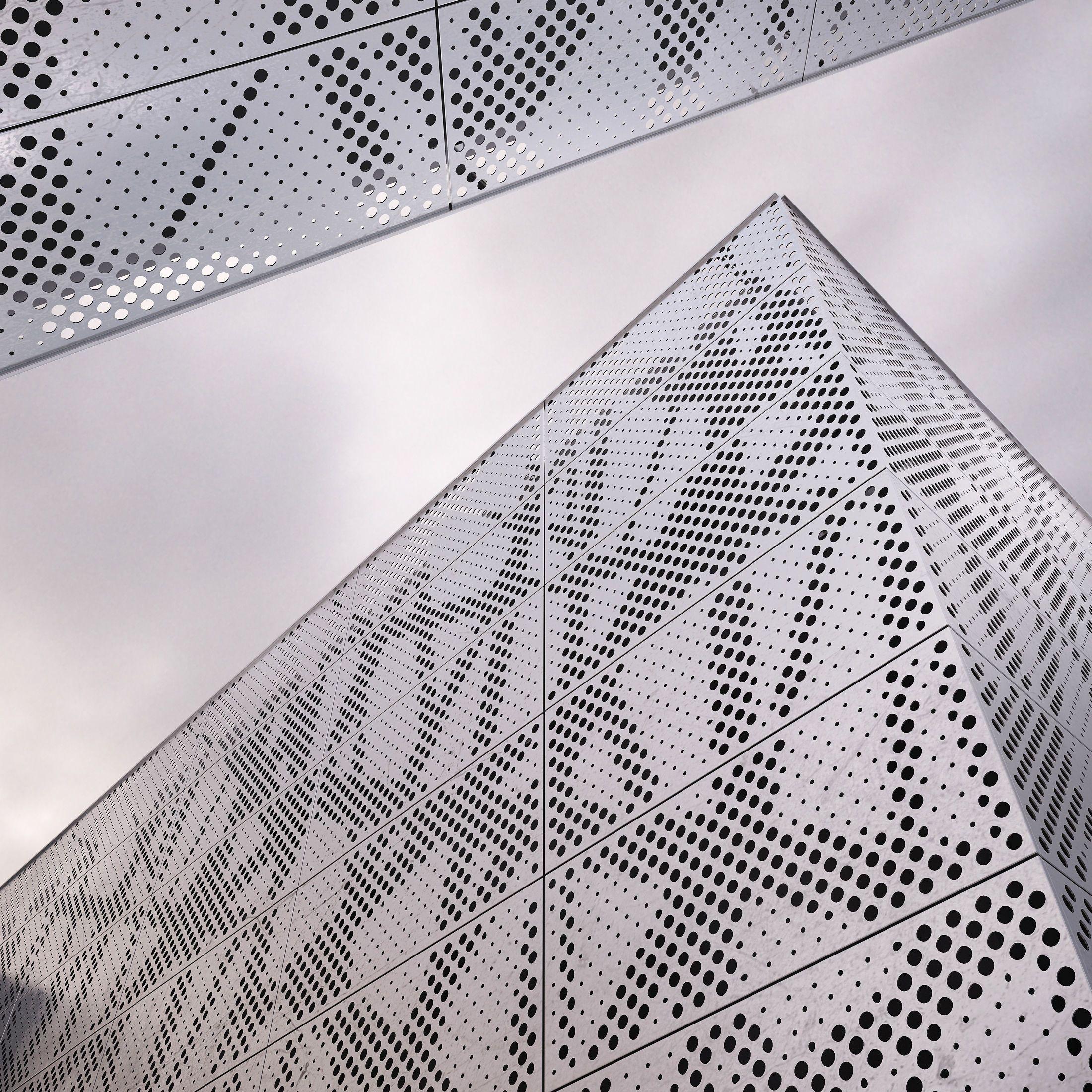 Perforated Metal Panel N1 3d Model Perforated Metal Panel Metal Panels Metal Wall Panel