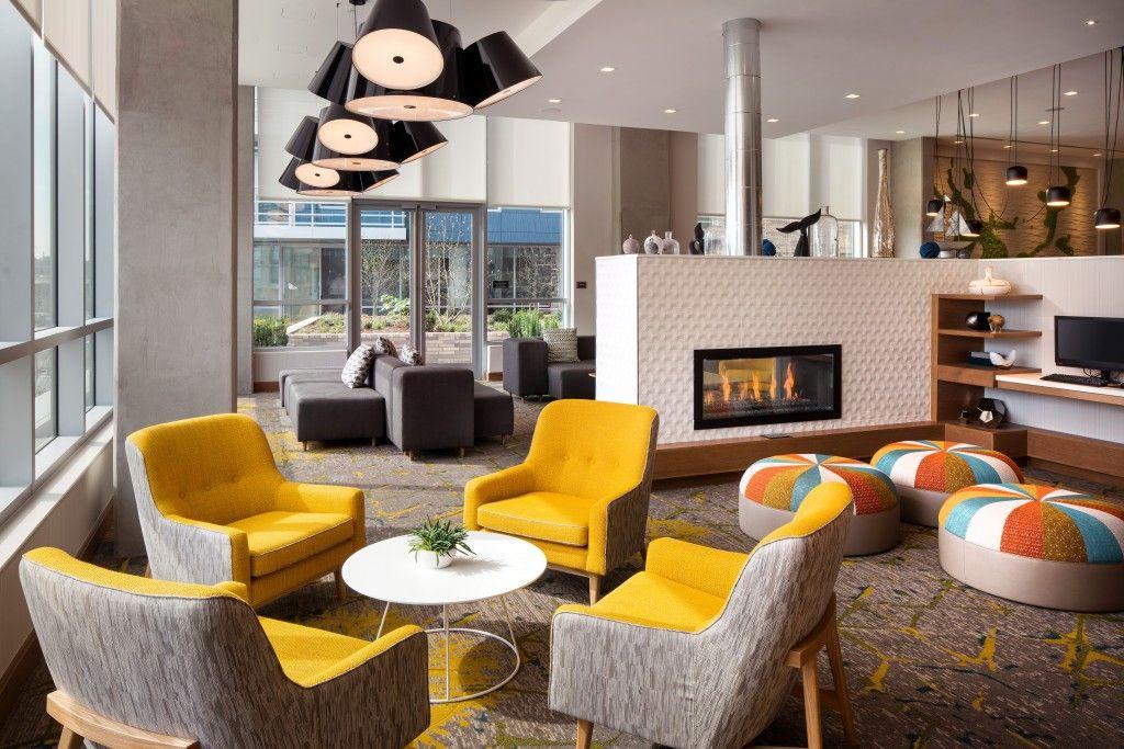 Residence Inn Washington Capitol Hill Navy Yard Lobby Design By Group One Partners Inc
