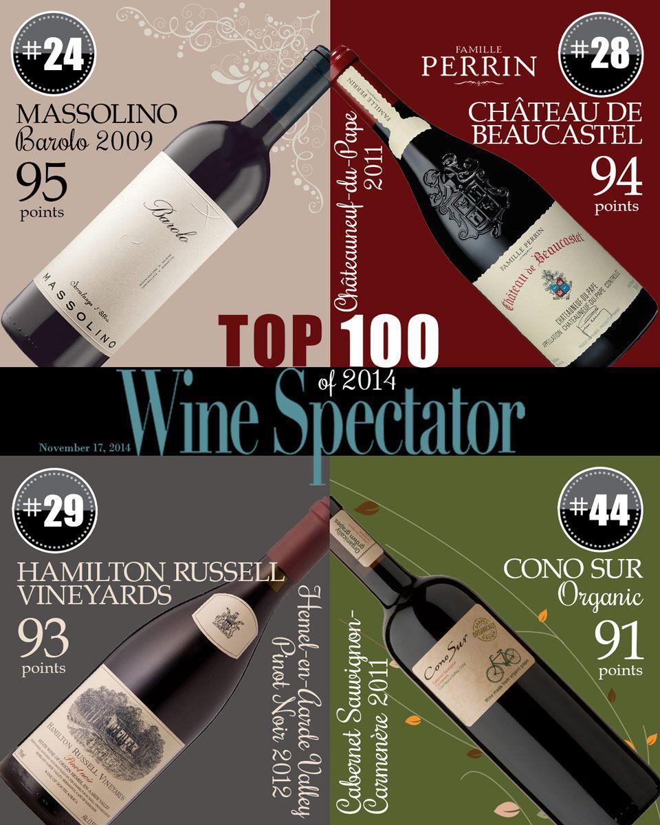 Four Wines From Vineyard Brands In The Wine Spectator Top 100 Massalino Chateau De Beaucastel Hamiltonrussell Conosur Wines Wine Buy Wine Online