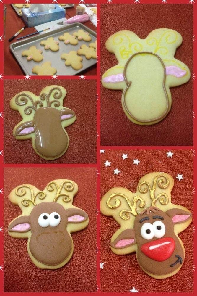 How To Make A Reindeer Cookie Connection Christmas Cookies Decorated Christmas Sugar Cookies Reindeer Cookies