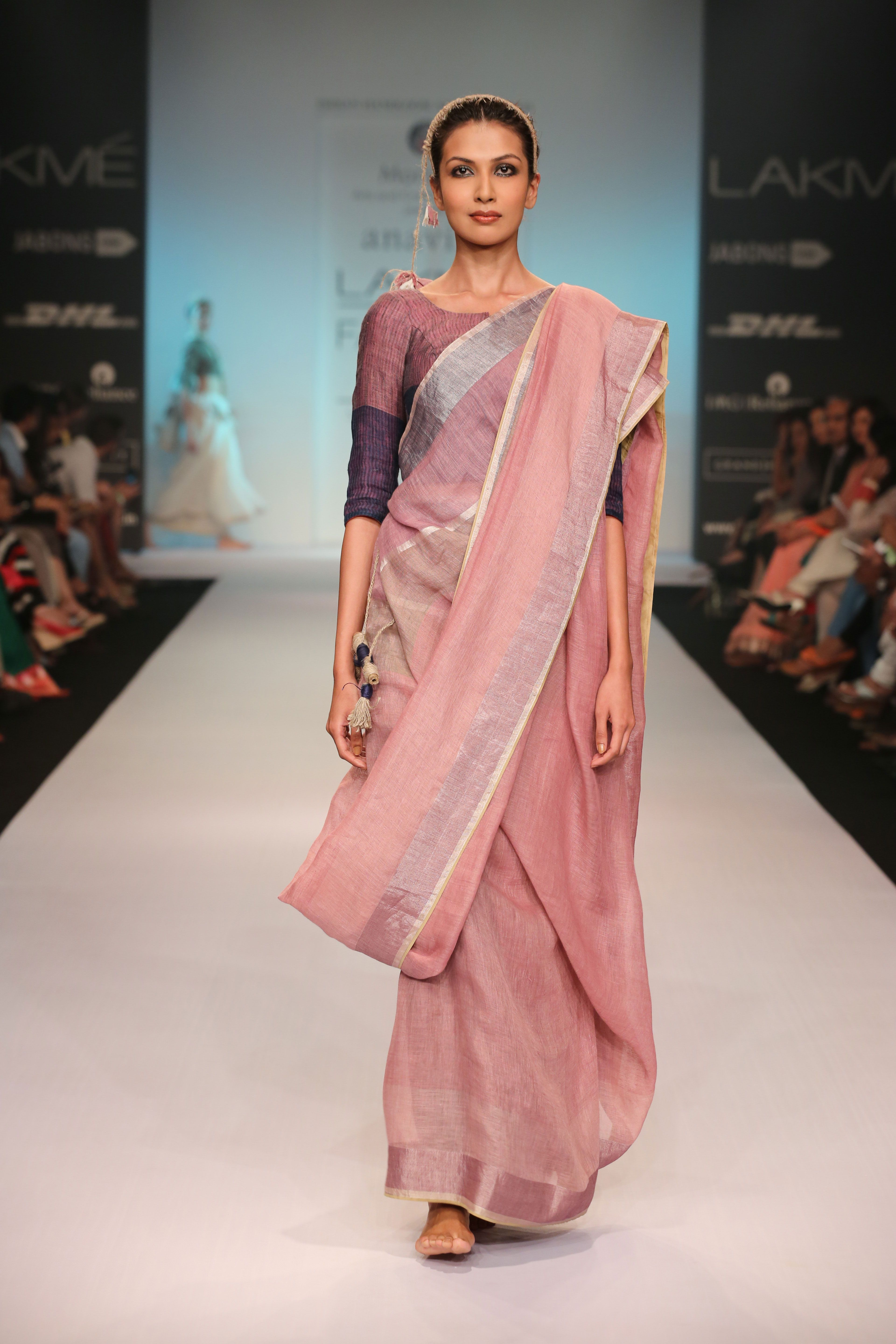 10290bac38ffa1 Anavila Misra, Linen Sari. Also check out her very interesting work ...