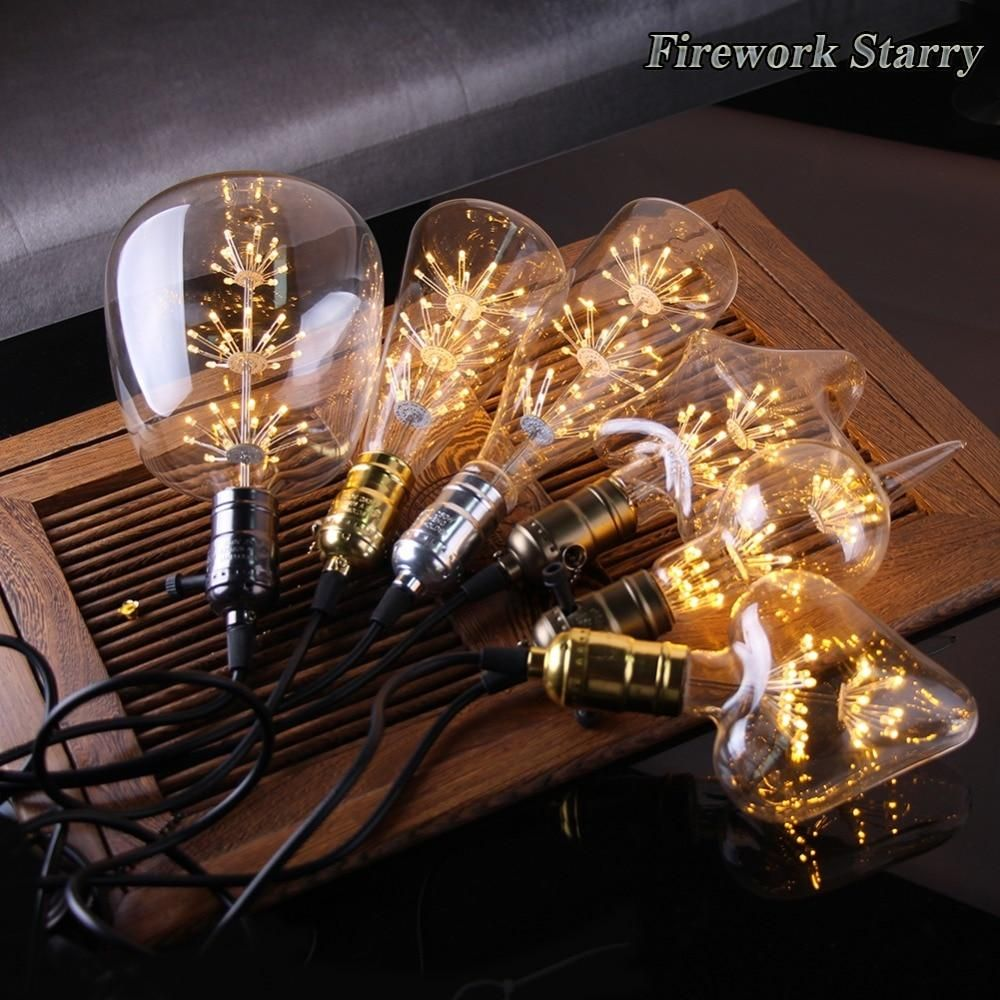 Retro Starry Sky Dimmable Led Bulb Wine Bottle Decorative Light Bulb Lamp Edison Light Bulbs Edison Lighting Light Bulb Lamp