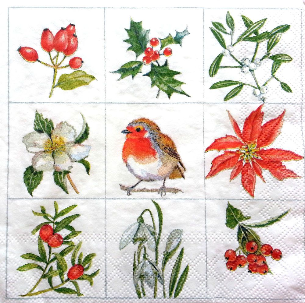 4 Vintage Paper Napkins for Decoupage Lunch Decopatch Craft  Birthday Cake