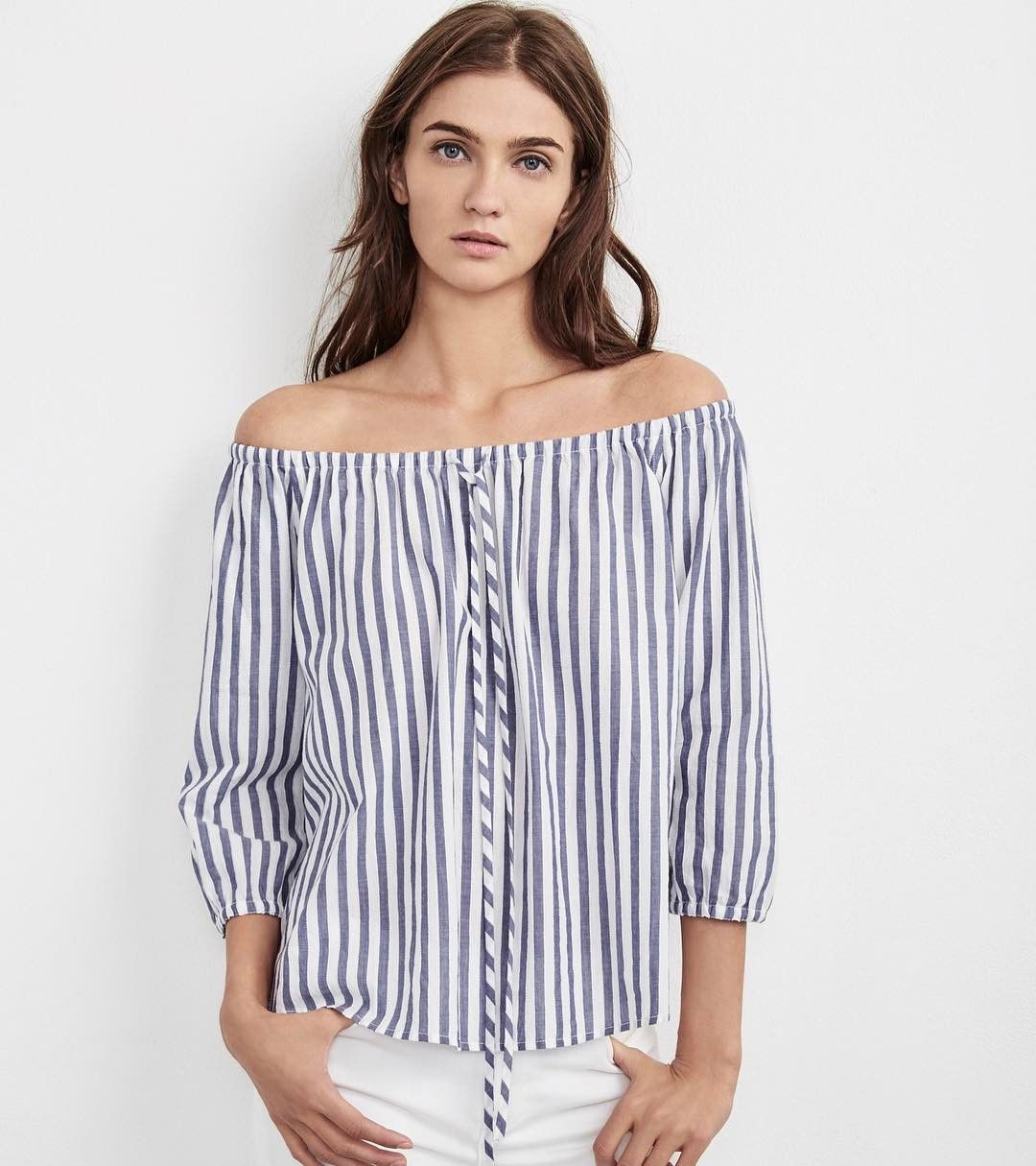 Velvet By Graham & Spencer Woman Cold-shoulder Gingham Woven Top Blue Size S Velvet Professional Cheap Price Clearance Factory Outlet Cheap Sale How Much Cheap Brand New Unisex Cheap New Styles rM46JDcPPr