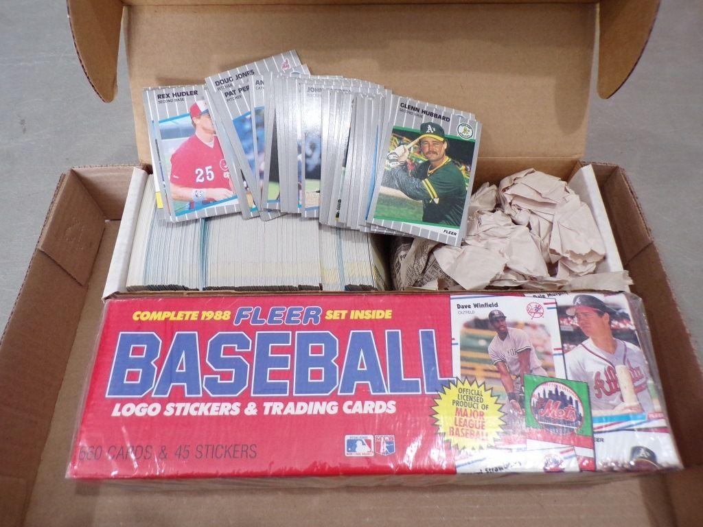 1988 fleer unopened other baseball cards baseball