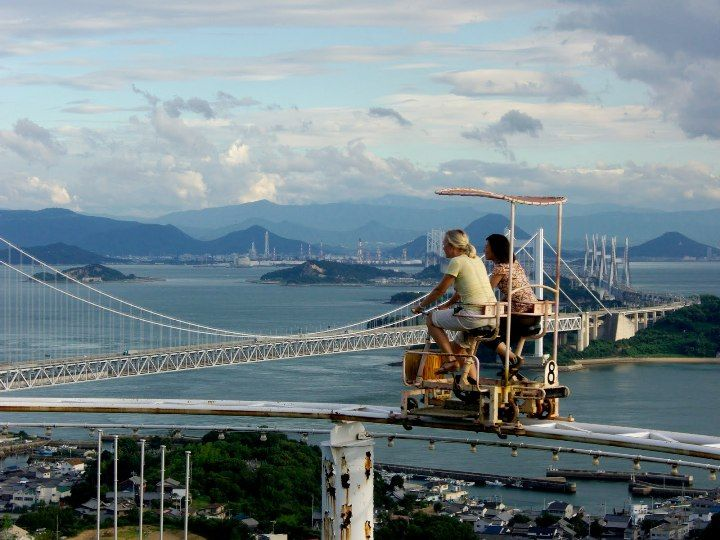 The Skycycle Is A Unique Pedal Powered Roller Coaster At Washuzan - Pedal powered skycycle rollercoaster japan amazing