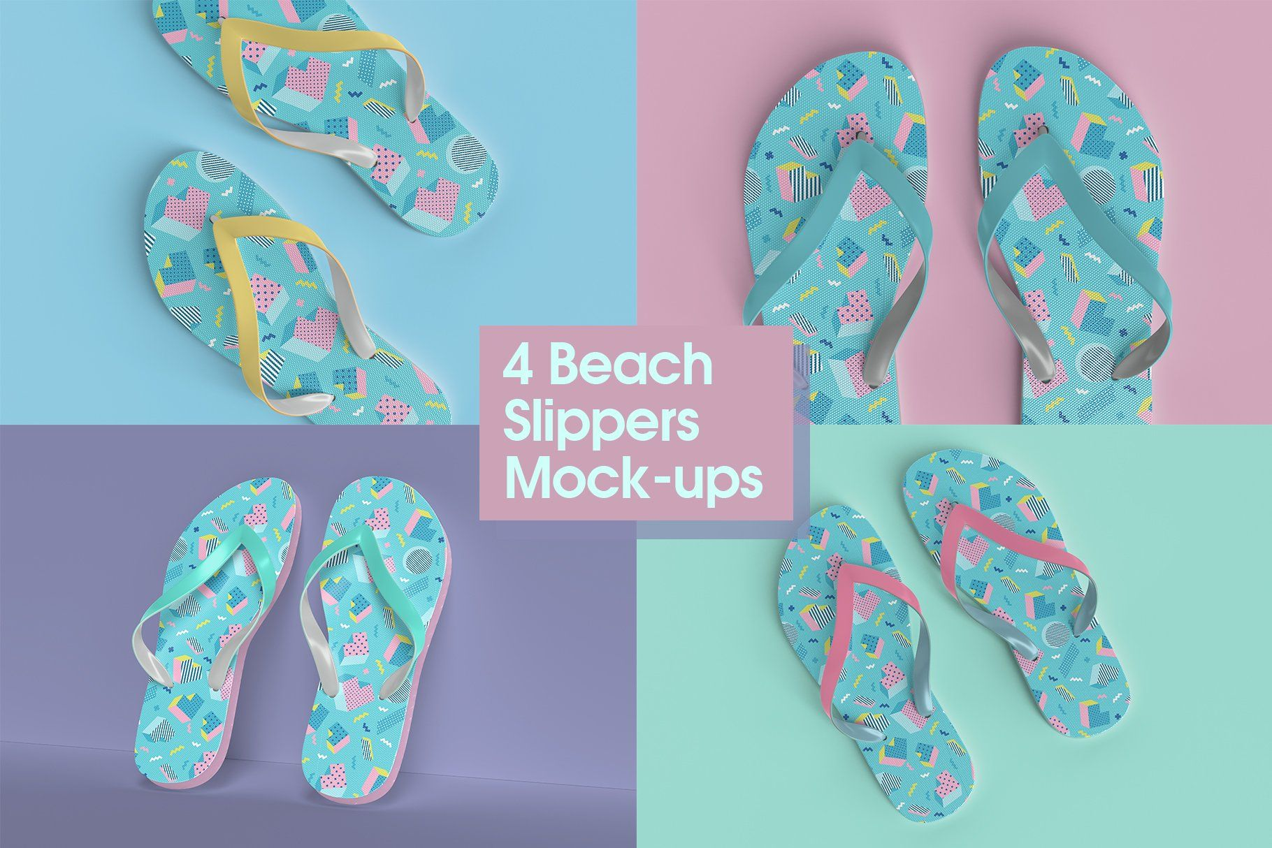 Beach Slippers Mock Up Beach Slippers Psd Template Free Templates Free Design