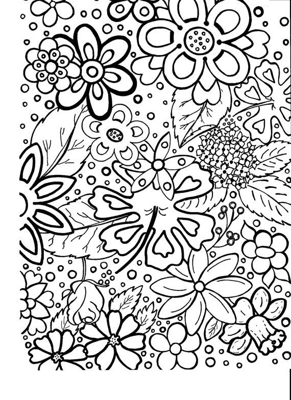 flower pattern coloring pages - photo#27