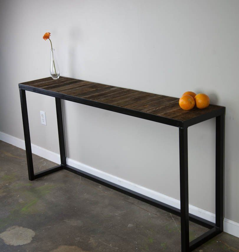 Fantastic Wood And Metal Console Table Within Remodel 17 Mebel