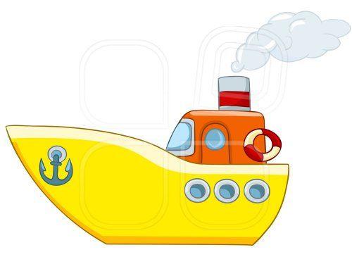 Caricatura De Barco Fondo Blanco Barcos Naves En El Mar
