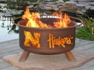 University Of Nebraska Corn Huskers Fire Pit 229 95 Free Shipping Wood Burning Fire Pit Fire Pit Outdoor Fire Pit