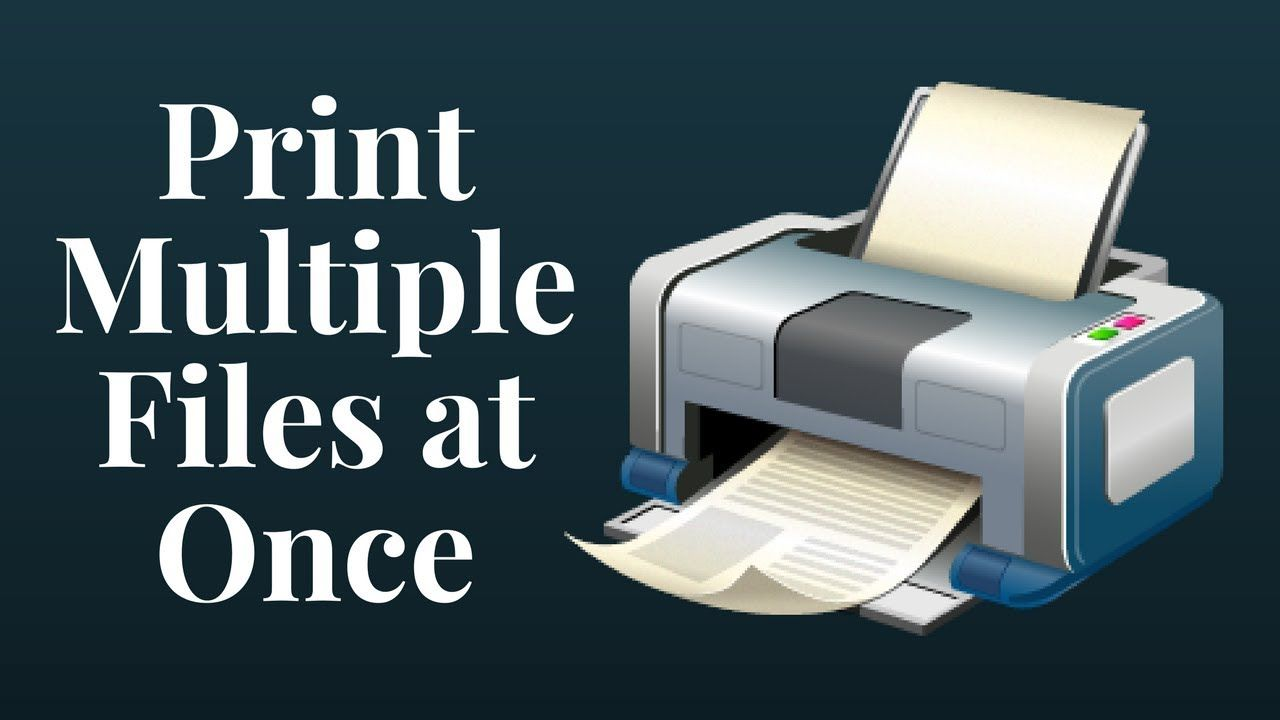 How to Print Multiple Files at Once? | Batch Files Printing | Print
