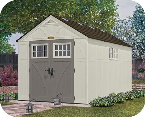 Suncast 8x16 Tremont Resin Shed Kit W Floor Shed Building A Shed Shed Plans