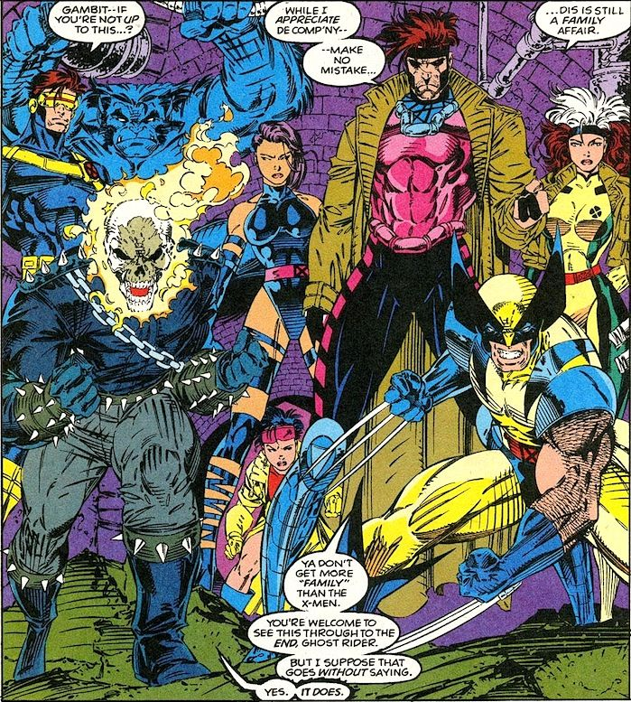 The X Men Ghost Rider By Jim Lee Ya Don T Get More Family Than The X Men Marvel Comics Art Comic Book Artwork Jim Lee Art