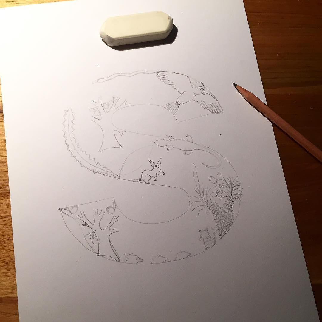 Sketching for my next illustrated letter sketch sketching pencil pencilsketch outline pencildrawing drawing s letters illustratedletter