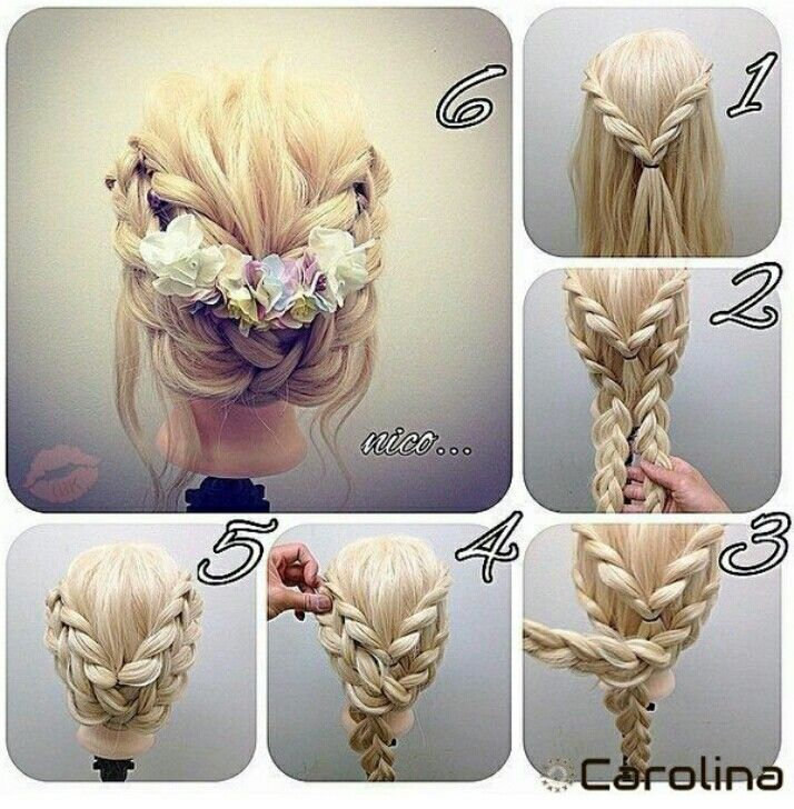 But with a circular flower – Hairstyle Women / Pinterest