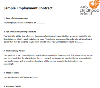 Free Printable Employment Contracts Contract Template Contract Employment