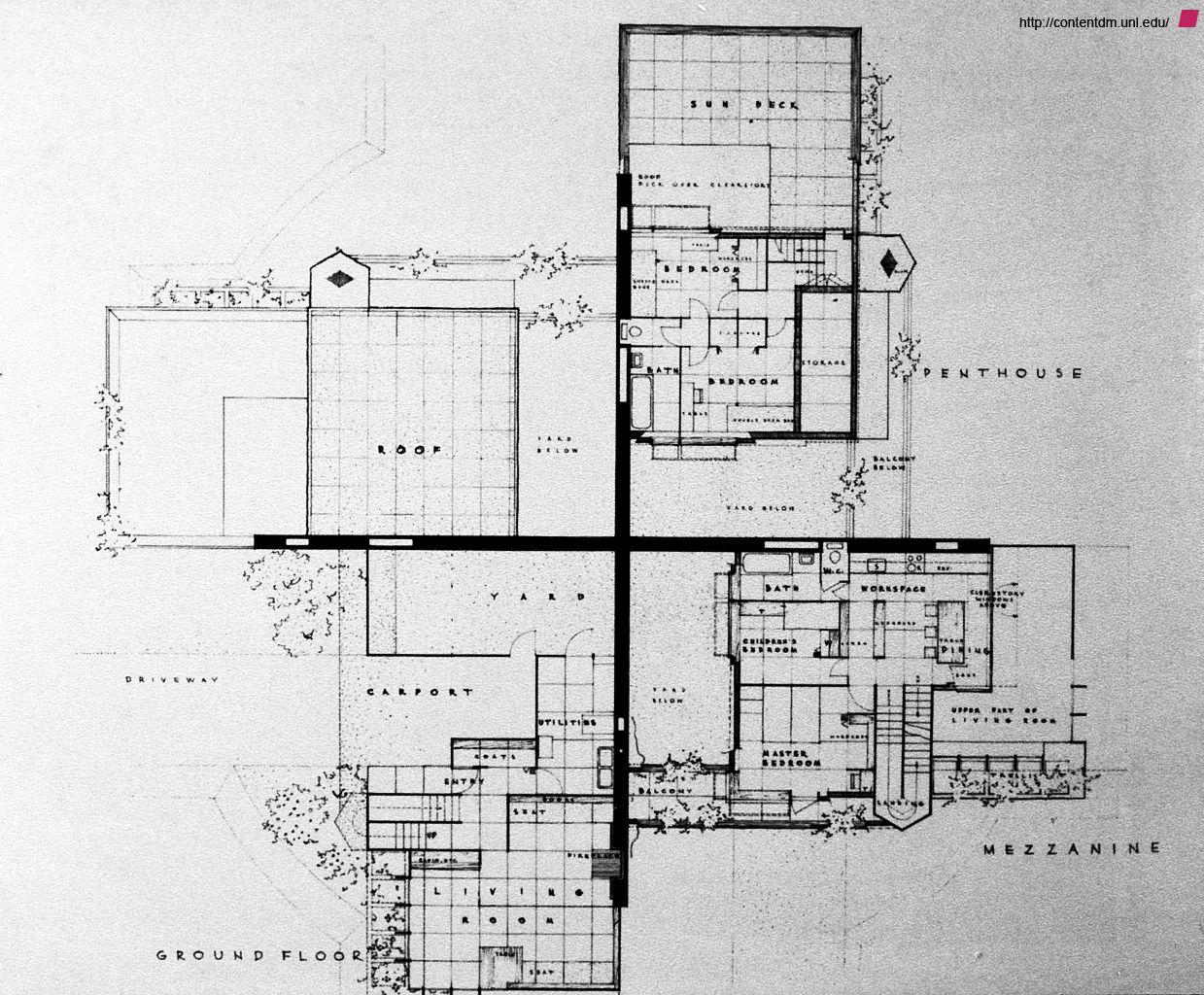 cloverleaf_quadruple_housing_39486642_02.jpg (1239×1024) | mimari ...