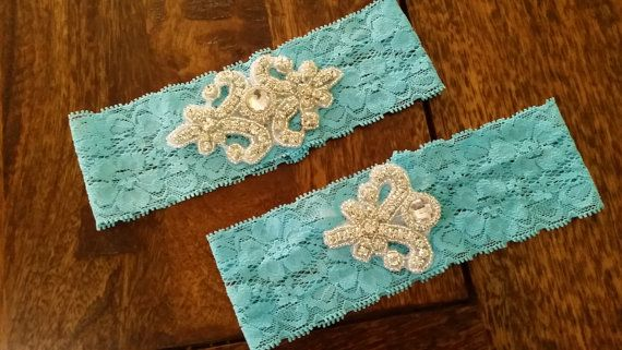 Lace Wedding Garter Set Bridal Garter by JazzyRoseCreations