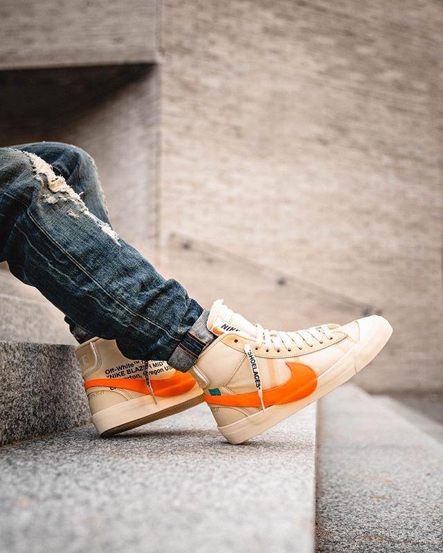 OFF WHITE x Nike Blazer Mid | Mens nike shoes, Cool nike