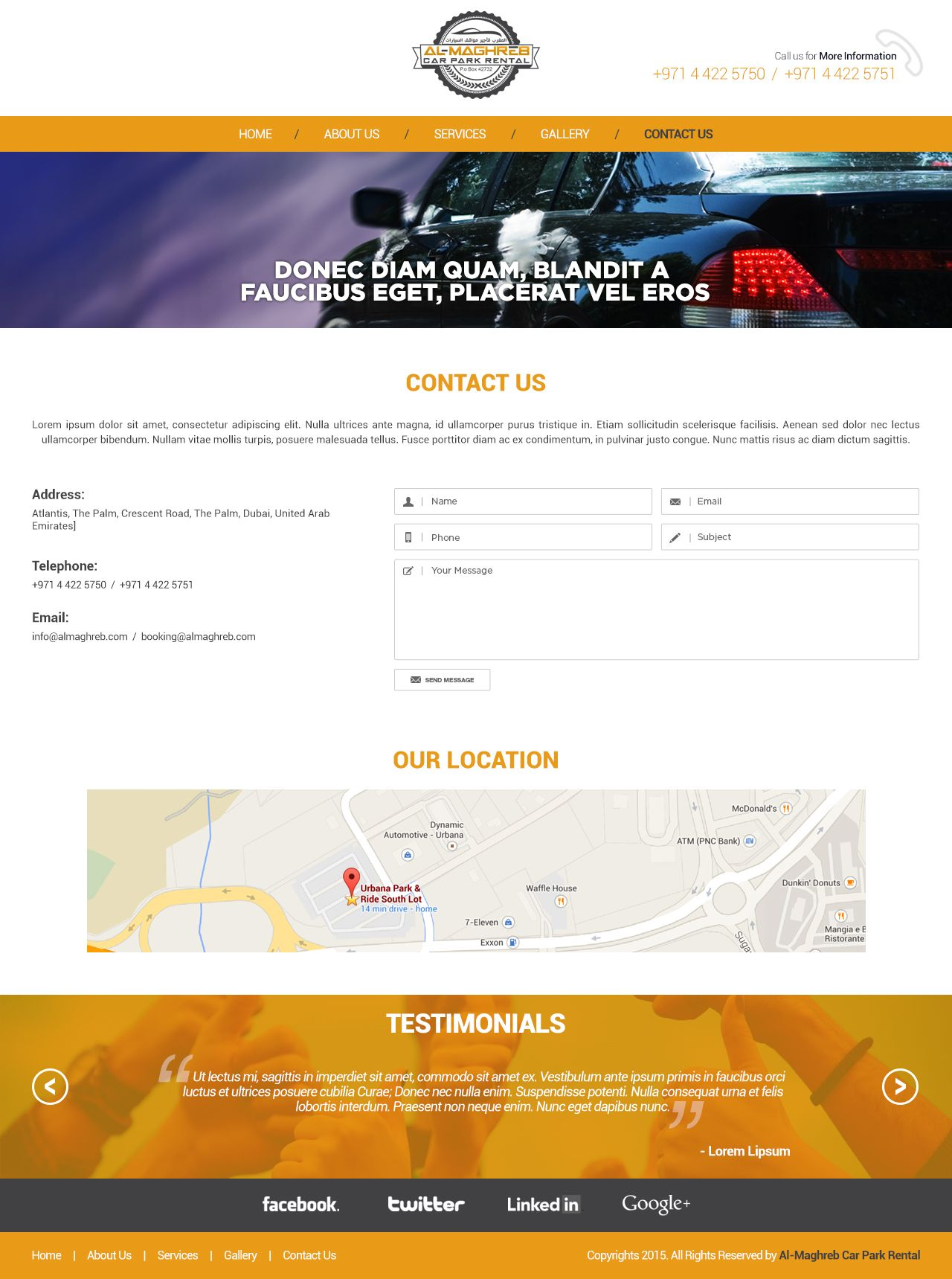 Car parking rental Contact us (With images) Web design