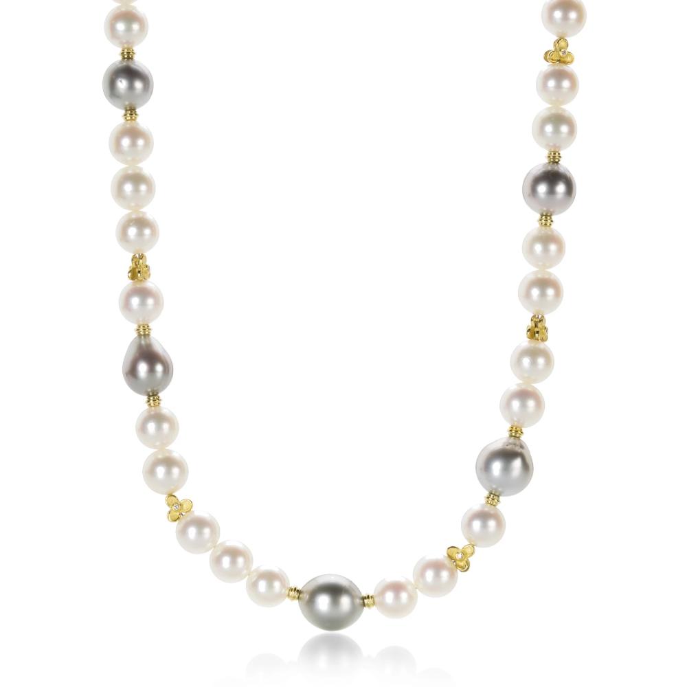 White Akoya Pearl Necklace Akoya Pearls Akoya Pearl Necklace Pearl Necklace