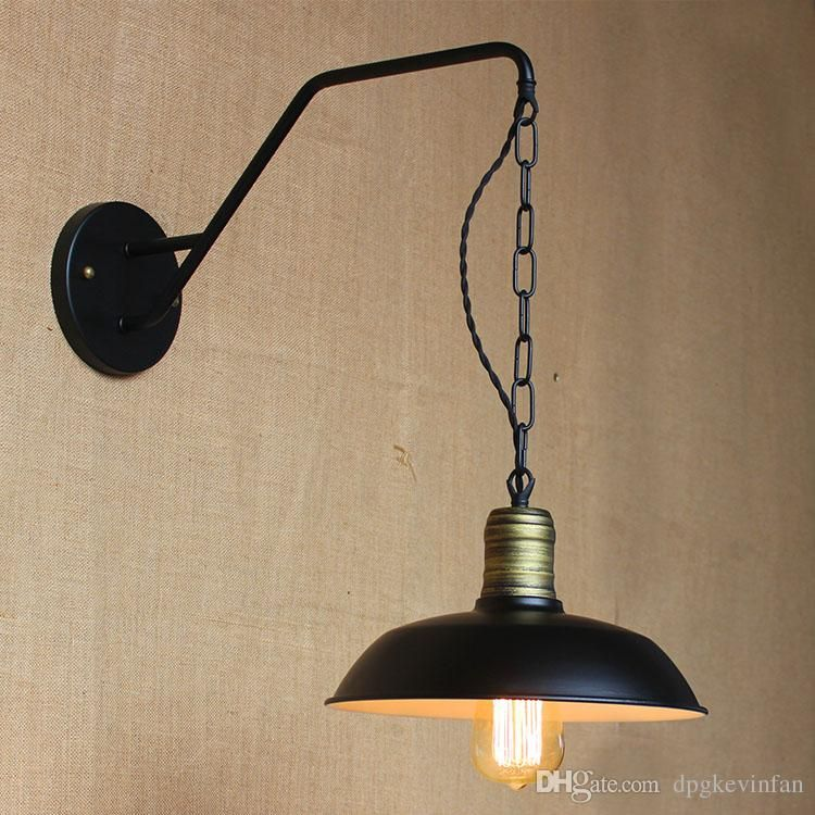 Marvelous 2018 Iron Retro Hanging Chain Black Metal Lampshade Wall Lights Outdoor  Wall Lamp Aisle Restaurant Bar Lighting From Dpgkevinfan, $61.21 |  Dhgate.Com