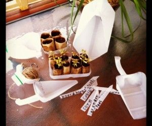 recycled milk bottle garden tools