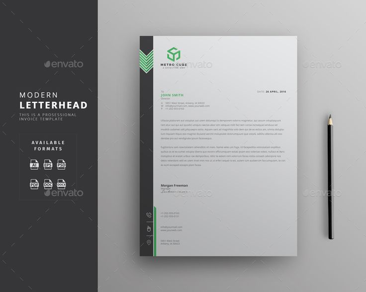 Buy Letterhead By Themedevisers On GraphicRiver. Corporate Letterhead  Template With Super Modern And Corporate Look. Corporate Letterhead Page  Designs Are ...  Best Free Letterhead Templates