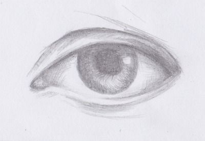 how to draw a realistic eye easy