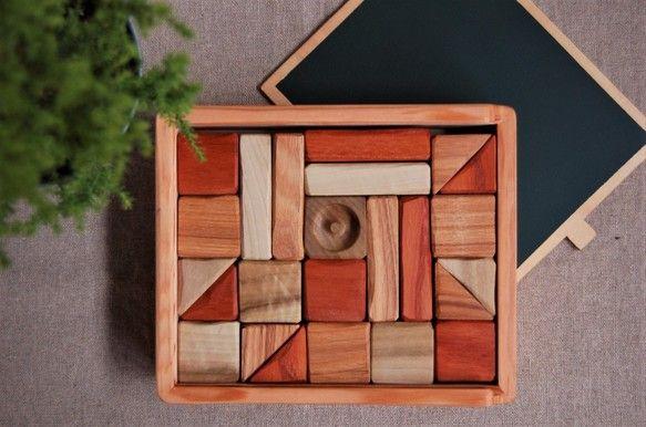 きなりのつみき/みつろう仕上げ|おもちゃ・人形|Ojn Handmade Hut|ハンドメイド通販・販売のCreema